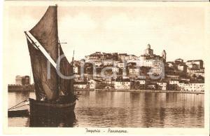 1930 ca IMPERIA Panorama con barca dei pescatori *Cartolina FP NV