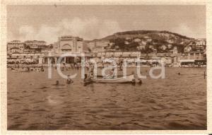 1930 ca IMPERIA PONENTE Barche al largo della Spiaggia d'oro *Cartolina FP NV