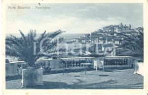 1950 ca PORTO MAURIZIO (IM) Panorama con tavolino *Cartolina FP NV