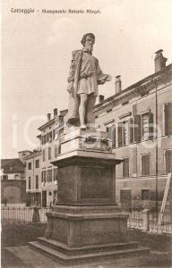 1930 ca CORREGGIO (RE) Monumento ad Antonio ALLEGRI *Cartolina FP NV