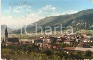 1914 CLES (TN) Panorama VAL DI NON *Cartolina FP VG