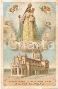 1925 Madonna di FONTANELLATO e il suo Santuario *Cartolina ILLUSTRATA FP VG