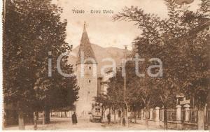 1930 ca TRENTO Furgone davanti a TORRE VERDE *Cartolina FP NV