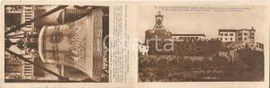 1934 ROVERETO (TN) Castello e Campana dei Caduti *Cartolina DOPPIA FP NV