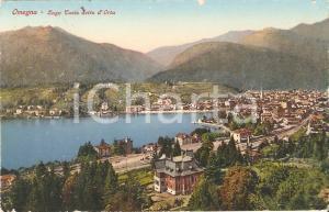1931 OMEGNA (VB) Panorama con Lago CUSIO o Lago d'ORTA  *Cartolina FP VG