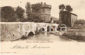 1905 TIVOLI (RM) Panorama con Ponte Lucano *Cartolina FP VG