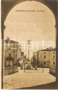 1930 ca BORGONOVO VAL TIDONE (Pc) Veduta di Via Roma *Cartolina FP NV