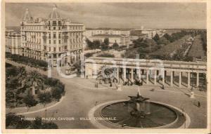 1950 ca FOGGIA Piazza Cavour e Villa Comunale *Cartolina FP NV