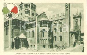 1930 ca TRENTO Cattedrale vista da tergo Palazzo Pretorio Cartolina FP NV
