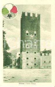 1920 ca TRENTO Veduta Torre VANGA *Cartolina ANIMATA FP VG serie ITALIA REDENTA