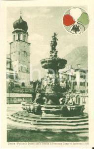 1920 ca TRENTO Fontana NETTUNO - Flavio Antonio GIONGO DI LAVARONE *Cartolina FP