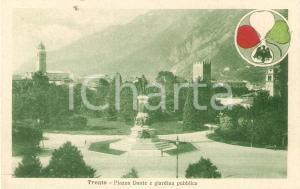 1930 ca TRENTO Piazza DANTE e giardino pubblico *Cartolina FP NV
