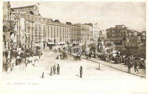 1902 NAPOLI Mercato a SANTA LUCIA *Cartolina FP VG