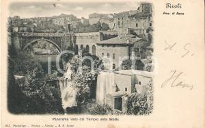 1903 TIVOLI (RM) Panorama dal Tempio della SIBILLA *Cartolina FP VG