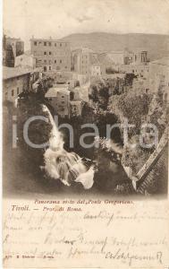 1903 TIVOLI (RM) Panorama dal Ponte Gregoriano *Cartolina FP VG