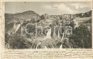 1900 TIVOLI (RM) Panorama con le cascatelle *Cartolina FP VG