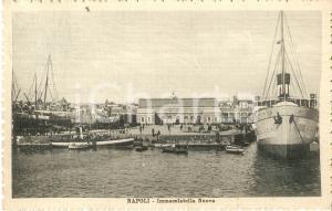 1914 NAPOLI Immacolatella nuova - Panorama *Cartolina FP VG