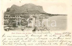 1899 PALERMO Monte Pellegrino visto dal molo *Cartolina FP VG