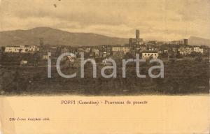 1908 CASENTINO (AR) Panorama di POPPI da ponente *Cartolina FP VG