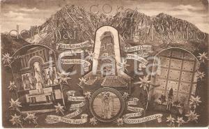 1934 OSSARIO DEL PASUBIO Vedutine con cripta e altare *Cartolina FP VG