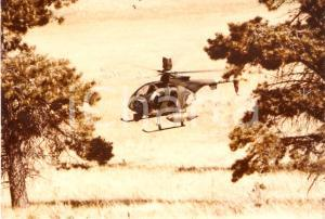 1985 ca ARMEE BELGE - TMP su elicottero HUGHES *Foto 17x12
