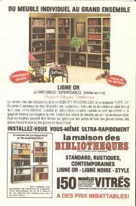 1975 ca PARIS La Maison des Bibliotheques *Cartolina pubblicitaria 10x15 cm