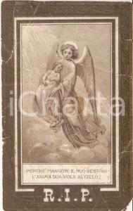 1889 Primo anniversario morte di Severina PINCIROLI ROSSI *Santino 7x11 cm