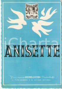1950 ca RISERVA D'OZZANO Distillati - ANISETTE *Etichetta VINTAGE 10x13 cm