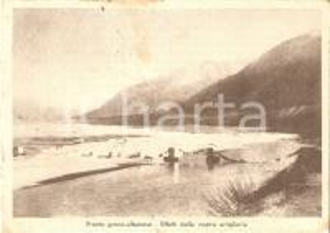 1940 ca WW2 Fronte greco-albanese Effetti dell'artiglieria italiana *Cartolina