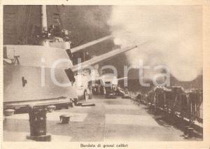 1940 ca GUERRA NAVALE WW2 Bordata di grossi calibri *Cartolina propaganda FG VG
