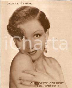 1940 ca CINEMA Ritratto Claudette COLBERT *Allegato al n. 47 di STELLE 15x18cm