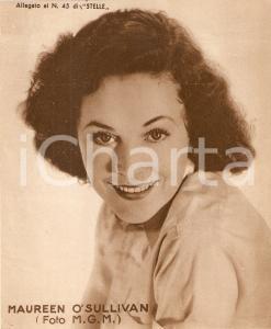 1940 ca CINEMA Ritratto Maureen O'SULLIVAN *Allegato al n. 45 di STELLE 15x18 cm