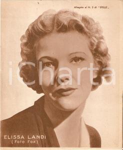 1940 ca CINEMA Ritratto Elissa LANDI *Allegato al n. 5 di STELLE 15x18cm