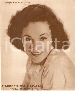 1940 ca CINEMA Ritratto Maureen O'SULLIVAN *Allegato al n. 45 di STELLE