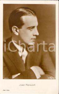 1940 ca CINEMA Attore Ivan PETROVICH Ritratto di profilo *Cartolina FP NV