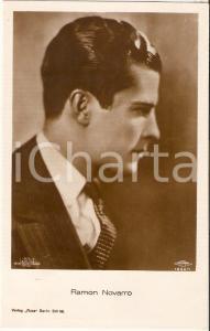 1930 ca CINEMA Ritratto dell'attore Ramon NOVARRO *Cartolina FP NV