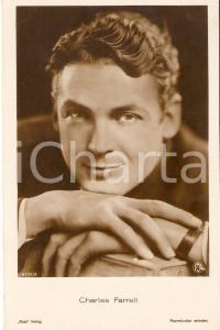1930 ca CINEMA Attore Charles FARRELL Ritratto *Cartolina FP NV