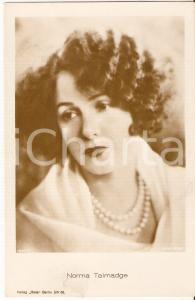1920 ca CINEMA Attrice Norma TALMADGE Ritratto con collana di perle *FP NV