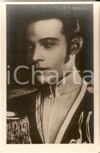 1925 ca CINEMA Rodolfo VALENTINO in costume militare *Cartolina FP NV