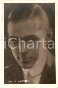 1950 ca CINEMA Rodolfo VALENTINO Primo piano intenso *Cartolina FP NV