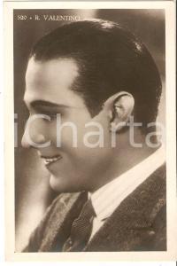 1950 ca CINEMA Rodolfo VALENTINO Ritratto con cravatta *Cartolina FP NV