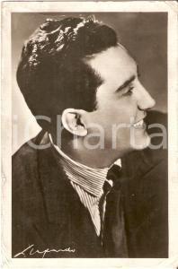 1960 ca MUSICA Cantante Corrado LOJACONO Ritratto *Cartolina e discografia FG NV