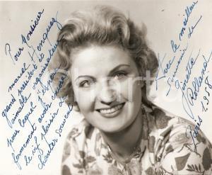 1958 PARIS Portrait de l'actrice Ginette ROLLAND *Photo avec AUTOGRAPHE