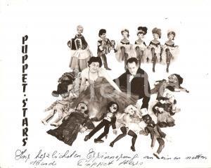 1960 ca CIRCUS PUPPET STARS Artisti con le loro marionette *Foto con AUTOGRAFO