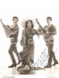 1960 ca PARIS Trio mexicano LOS CARIBES - Varietà *Foto con AUTOGRAFO 18x24