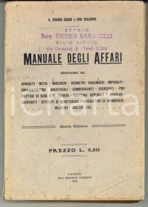 1912 VARESE G. Edoardo GRASSO Luigi SCALABRINI Manuale degli Affari