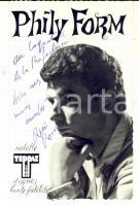 1958 Portrait of PHILY FORM (René Clausier) *Postcard TEPPAZ with AUTOGRAPH