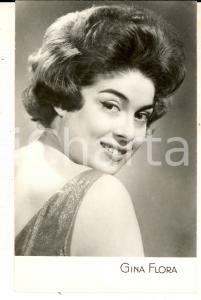 1955 ca PARIS MUSICA Ritratto della cantante GINA FLORA *Foto seriale 9x14