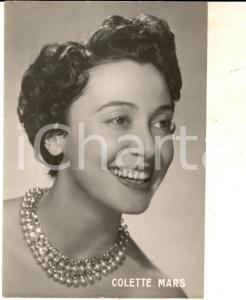 1955 ca PARIS MUSICA Ritratto della cantante Colette MARS *Foto seriale 12x14