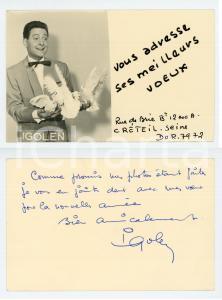 1950 ca PARIS CIRQUE Ricky IGOLEN Foto seriale con AUTOGRAFO 14x8 cm